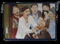 Митя Карамазов треплет за бороду Снегирёва. Художник Наталья Моисеева.png