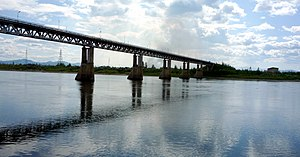 Kolyma River - The bridge at Debin