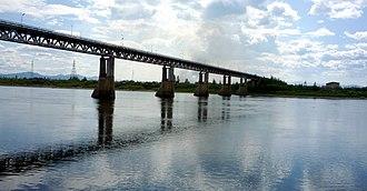 Kolyma River - The bridge at Debin