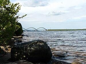 Nekouzsky District - Railway bridge across the Volga River connecting Nekouzsky and Rybinsky Districts