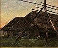 Рущиц Фердинанд. Сараи и прясло для сена. 1899.jpg
