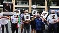 تجمع اعتراض به اعدام نوید افکاری مقابل دفتر حفاظت از منافع جمهوری اسلامی در واشنگتن 03.jpg
