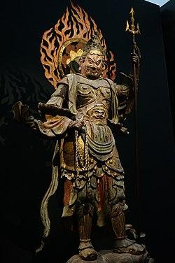 広目天, Virūpākṣa, Heian period, Jōruri-ji.jpg