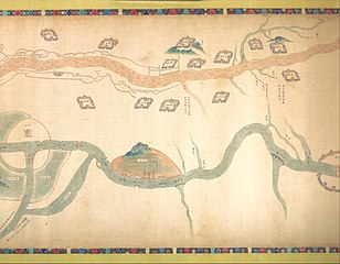 Map of the Grand Canal from Beijing to the Yangzi River
