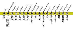 Nagahori Tsurumi-ryokuchi Line - Image: 長堀鶴見緑地線 Subway Nagahori Tsurumiryokuchi Line