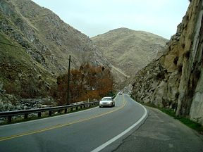 View of Kern River Canyon from SR 178 (Kern Canyon Road).
