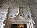 074 Castell de Santa Florentina (Canet de Mar), entrada al saló des de la galeria.JPG