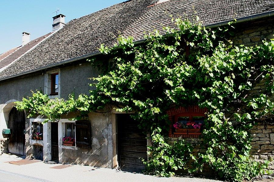 Ornans (Doubs - France), rue du  Champliman - Maison typique.