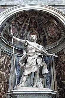 Longinus e Jesus 220px-0_Statue_de_Saint_Longin_par_Gian_Lorenzo_Bernini_-_Basilique_St-Pierre_-_Vatican