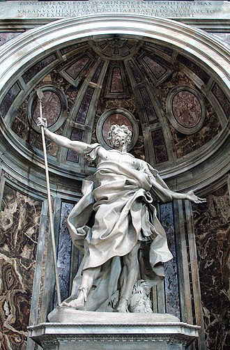 Longinus - Saint Longinus in Saint Peter's Basilica by Bernini.