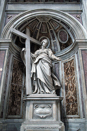 Andrea Bolgi - The classically balanced Saint Helena in the crossing of St. Peter's Basilica, Rome