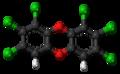 1,2,3,6,7,8-Hexachlorodibenzodioxin molecule ball.png