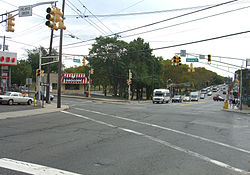 Nungesser's, at the intersection of Bergenline Avenue and Woodcliff Avenue.
