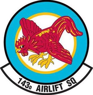 143d Airlift Squadron - Image: 143rd Airlift Squadron emblem