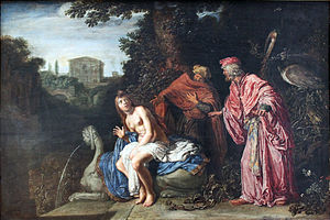 Susanna and the Elders (Rembrandt) - Susanna and the Elders, by Pieter Lastman