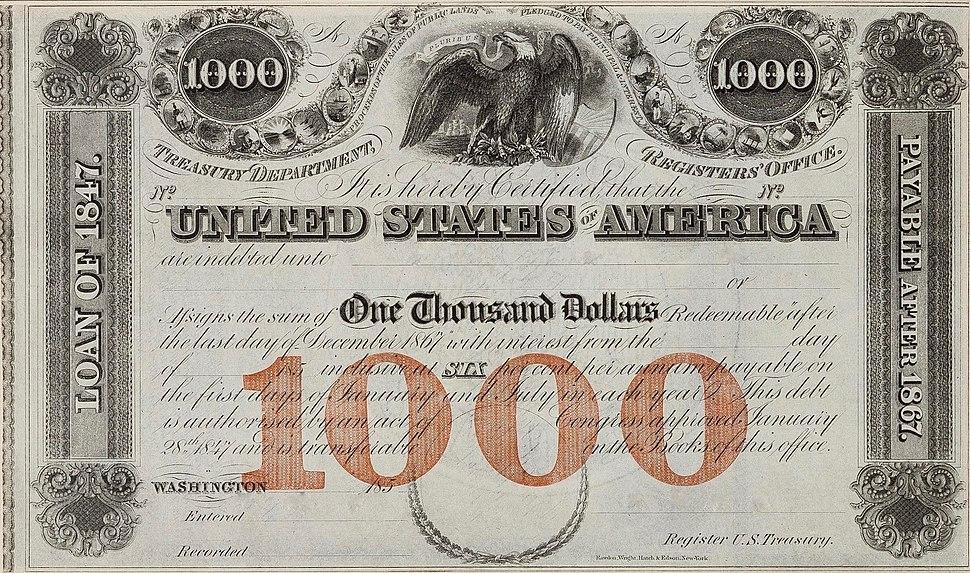 1847 $1,000 6% Loan