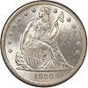 Seated Liberty dollar obverse, 1860