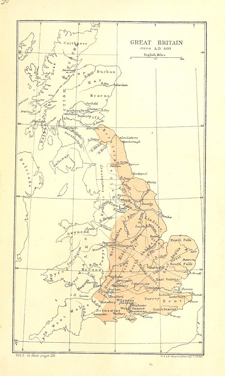 Map Of England 600 Ad.File 185 Of The Foundations Of England Or Twelve Centuries Of
