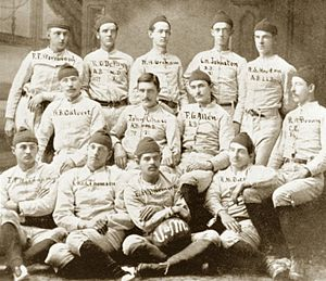 1880 Michigan Wolverines football team - Image: 1880 Michigan Wolverines football team