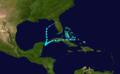 1911 Atlantic tropical storm 6 track.png