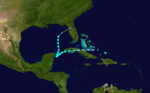 1911 Atlantic tropical storm 6 track.png