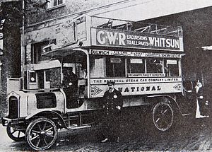 Steam bus - National Steam Car Co Ltd ran steam buses in London from 2 Nov 1909 to 18 Nov 1919