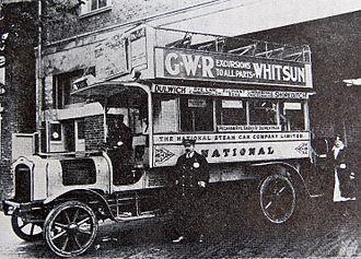 Steam bus - National Steam Car Co Ltd ran steam buses in London from 2 Nov 1909 to 18 Nov 1919