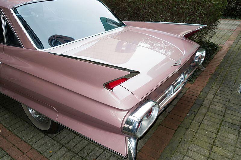 File:1961 Cadillac Eldorado Seville Coupe rear fins (26365780365).jpg