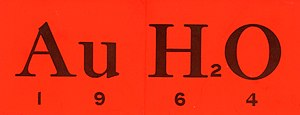 Barry Goldwater - 1964 Presidential campaign bumper sticker representing the Goldwater surname as Au = gold and H2O = water