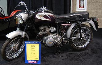 Ducati Bronco - Image: 1964 Ducati 125 Bronco at the 2009 Seattle International Motorcycle Show 1