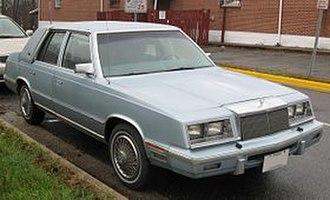 Chrysler K platform - 1987 Chrysler New Yorker, an E Body