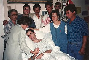 Pedro Zamora - Pedro Zamora a few days before his death with his father and most of his siblings.