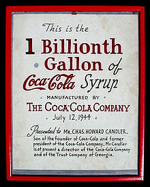Original Framed Coca Cola Artists Drawn Graphic Presented By The Company On July 12 1944 To Charles Howard Candler Occasion Of