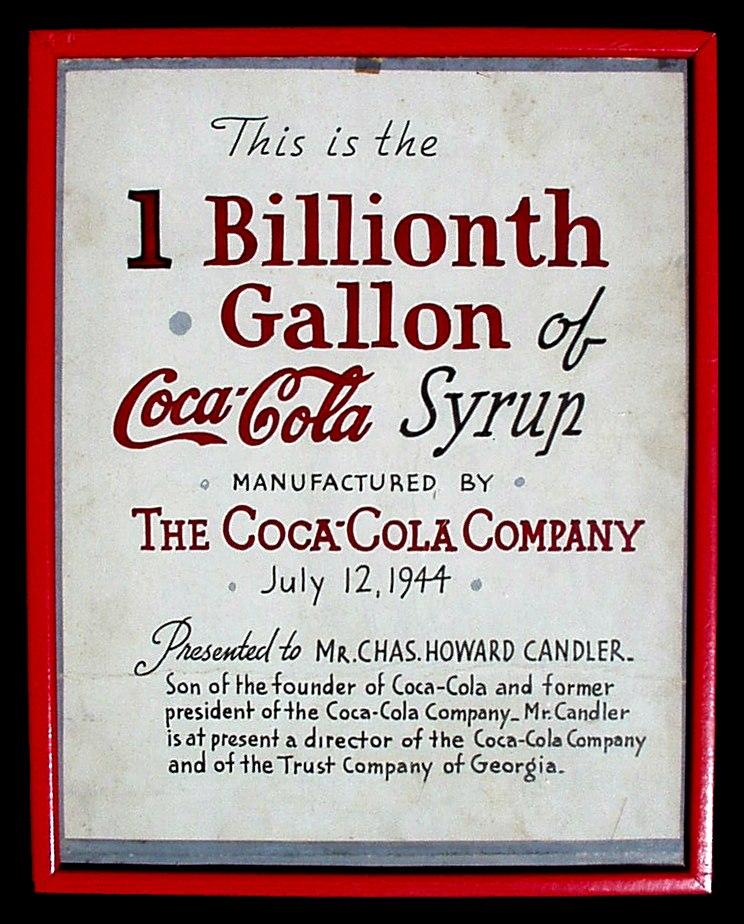 1BILLIONTHgallonCOCACOLAowner