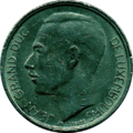 1 franc Luxembourg Jean I (1977)-avers.png