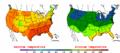 2002-09-12 Color Max-min Temperature Map NOAA.png