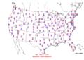 2006-06-09 Max-min Temperature Map NOAA.png