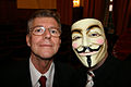 2008 09 Graham Berry with Anonymous at Hamburg conference on Scientology 01.jpg