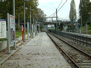 Delftsewallen RandstadRail station - Image: 2008 Station Delftsewallen Perron 2