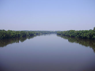 Ewing Township, New Jersey - The Delaware River forms the western border of Ewing Township