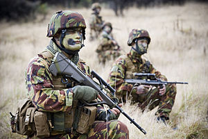 New Zealand Army - Soldiers wearing earlier DPM uniforms during an exercise in 2011
