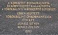 2013-as emléktábla, Anton Bunth feszület, 2017 Törökbálint.jpg