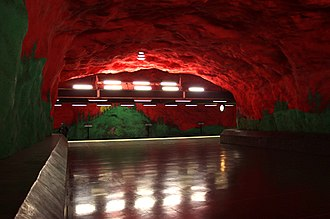 Solna centrum metro station - Image: 20130601 Stockholm Solna centrum Metro station 6868