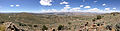 "2014-06-13 12 45 01 Panorama west to north from a bluff northwest of the summit of ""E"" Mountain in the Elko Hills of Nevada.JPG"