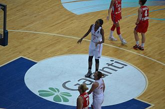 LaToya Sanders - Lara Sanders for Turkey in the 2014 FIBA World Championship for Women quarterfinals match against Serbia.