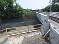 2014 07 02 Medford Street Bridge - NW Abutment Prep for Concrete Modifications (15011890756).jpg
