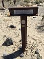 2015-04-02 15 47 03 Central Overland Trail - Sand Springs Station trail marker at Sand Springs Pony Express Station, Nevada.JPG