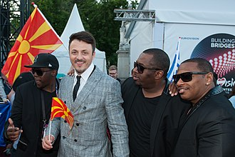 Macedonia in the Eurovision Song Contest 2015 - Daniel Kajmakoski at the Eurovision Song Contest opening ceremony