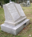 2017-11-10 1435 tombstone of William Burke Belknap and wife Mary.png