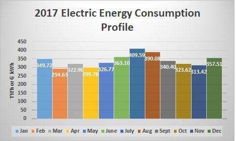 2017 Electric Energy Consumption Profile